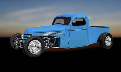 1939 Chevrolet Custom Pickup Truck  -  1939chevycusttrk0116 Art Print by Frank J Benz