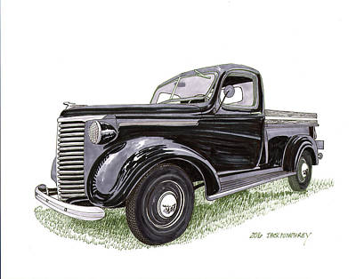 Drawing - 1939 Chevrolet Half Ton Pick Up by Jack Pumphrey