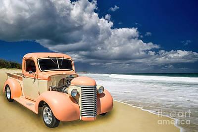 Photograph - 1939 Chevrolet Pickup Antique Car Color Print Or Canvas Prints 3517.02 by M K Miller