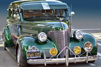 Photograph - 1939 Chevrolet Sedan by Bill Dutting