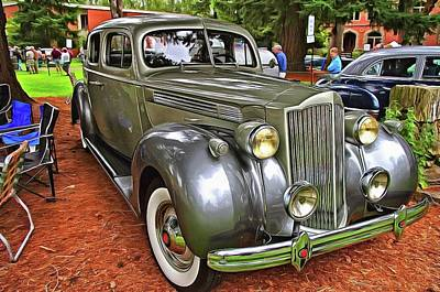 Photograph - 1939 Classic Packard 120 Sedan by Thom Zehrfeld
