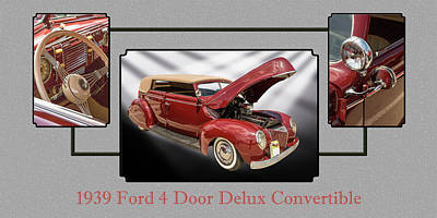 Photograph - 1939 Ford 4 Door Deluxe Convertible 5542.01 by M K Miller