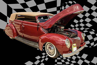 Photograph - 1939 Ford 4 Door Deluxe Convertible 5542.03 by M K Miller