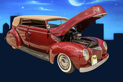 Photograph - 1939 Ford 4 Door Deluxe Convertible 5542.06 by M K Miller