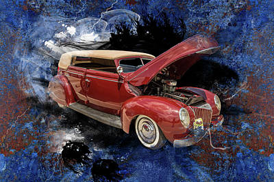 Photograph - 1939 Ford 4 Door Deluxe Convertible 5542.07 by M K Miller