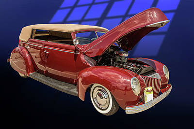 Photograph - 1939 Ford 4 Door Deluxe Convertible 5542.08 by M K Miller