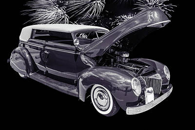 Photograph - 1939 Ford 4 Door Deluxe Convertible 5542.53 by M K Miller