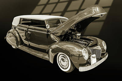 Photograph - 1939 Ford 4 Door Deluxe Convertible 5542.57 by M K Miller