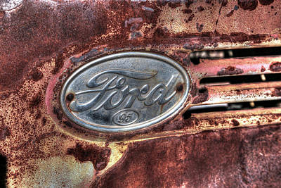 Photograph - 1939 Ford 95 Emblem by Donna Kennedy