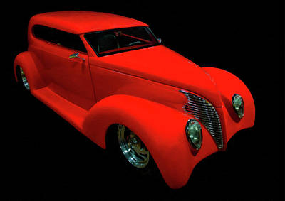 Painting - 1939 Ford Tudor Hot Rod Digital Oil by Chris Flees