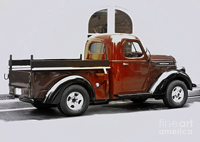 Antiques Photograph - 1939 International Pickup Truck - Side View by Steven  Digman