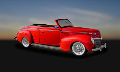 Photograph - 1939 Mercury Club Coupe Convertible   -   39merccv356 by Frank J Benz