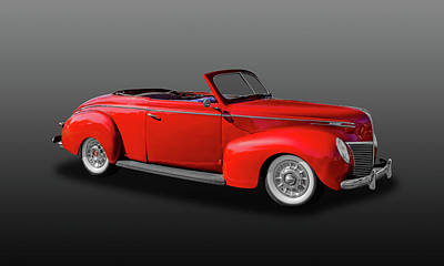 Photograph - 1939 Mercury Club Coupe Convertible  -  39mercurycv456 by Frank J Benz
