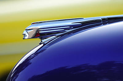 1939 Pontiac Coupe Hood Ornament Art Print by Jill Reger