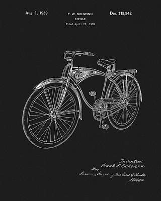 1939 Schwinn Bicycle Patent Art Print