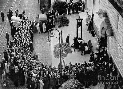 Photograph - 1939 - The Last Public Execution By Guillotine by Doc Braham