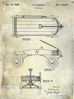 1939 Toy Wagon Patent  Art Print by Jon Neidert