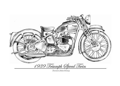 1939 Triumph Speed Twin Original by Terence John Cleary