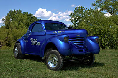 Photograph - 1939 Willys Coupe Gasser by Tim McCullough