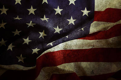 Landmarks Royalty-Free and Rights-Managed Images - American flag 78 by Les Cunliffe