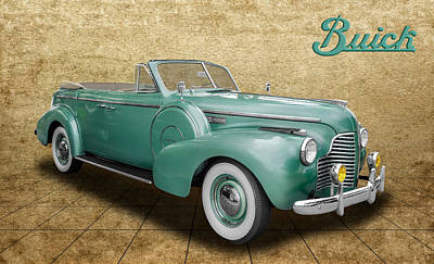 Photograph - 1940 Buick Convertible by Frank J Benz
