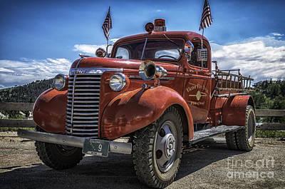 Photograph - 1940 Chevrolet Fire Truck  by Bitter Buffalo Photography