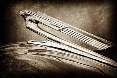 1940 Chevrolet Hood Ornament -0225s Art Print