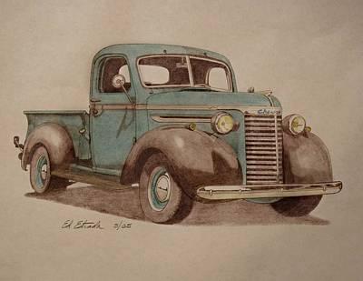 1940 Chevrolet Pickup Truck Art Print by Ed Estrada