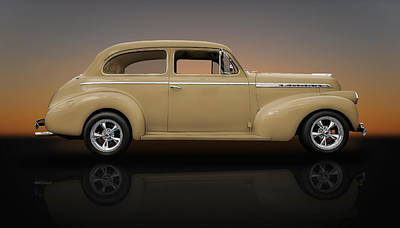 Custom Chevrolet Deluxe Photograph - 1940 Chevrolet Special Deluxe Sedan  -  5co by Frank J Benz