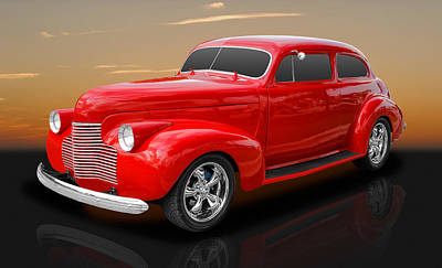 Custom Chevrolet Deluxe Photograph - 1940 Chevrolet Special Deluxe Sedan by Frank J Benz