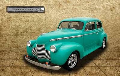 1940 Chevrolet Special Deluxe Sedan - V3 Art Print