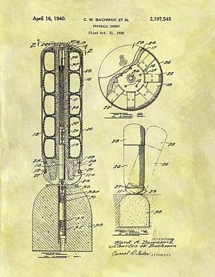 Training Mixed Media - 1940 Football Dummy Patent by Dan Sproul