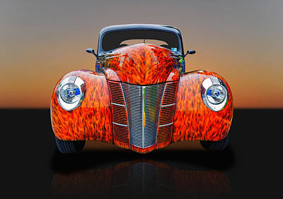 Photograph - 1940 Ford Coupe - Front End Detail by Frank J Benz