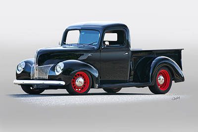 Mans Best Friend - 1940 Ford Deluxe 8 Pickup by Dave Koontz