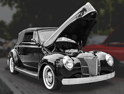 1940 Ford Deluxe Automobile Art Print