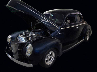 Painting - 1940 Ford Deluxe Coupe Digital Oil by Chris Flees