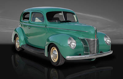 Ford Custom V8 Photograph - 1940 Ford Deluxe Coupe by Frank J Benz