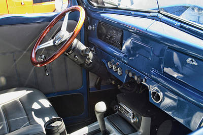 Photograph - 1940 Ford Truck Interior by Alana Thrower