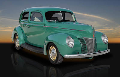 1940 Ford V8 Deluxe Coupe Art Print by Frank J Benz