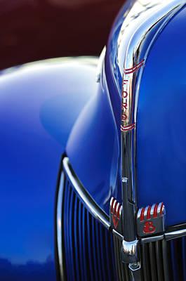 Hoodies Photograph - 1940 Ford V8 Hood Ornament 3 by Jill Reger