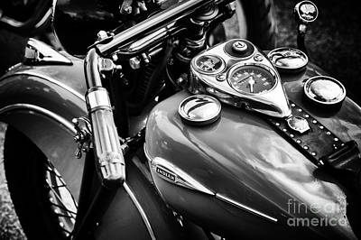 Photograph - 1940 Indian Sport Scout Motorcycle Monochrome  by Tim Gainey