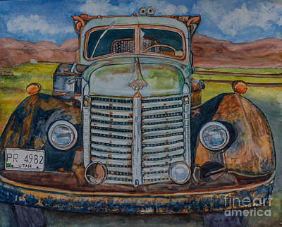Painting - 1940 International Harvester Truck by DJ Laughlin