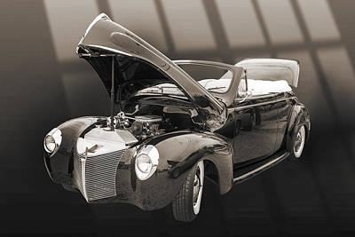 Antique Car Photograph - 1940 Mercury Convertible Vintage Classic Car Photograph 5209.01 by M K  Miller