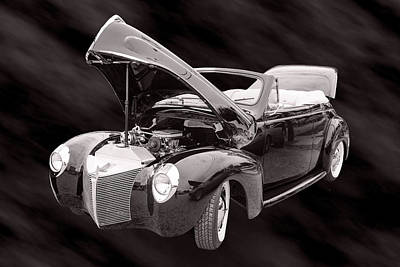 Photograph - 1940 Mercury Convertible Vintage Classic Car Photograph 5212.01 by M K Miller