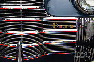 Photograph - 1940 Oldsmobile Touring Sedan Grill Off-center by Rick Bures