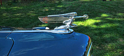 Photograph - 1940 Packard Darrin Hood Ornament by Allen Beatty