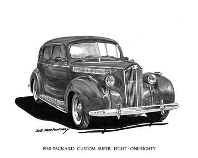 Painting - 1940 Packard Super Eight 180 Sedan by Jack Pumphrey