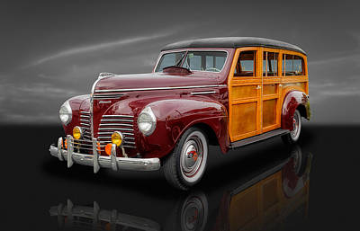 Photograph - 1940 Plymouth Deluxe Woody Wagon - 2 by Frank J Benz