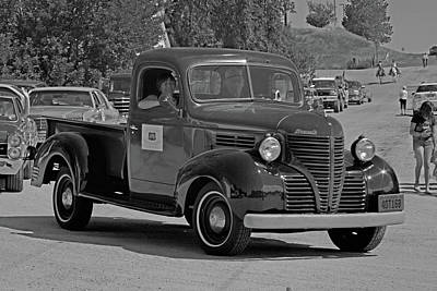 Photograph - 1940 Plymouth Truck Monochrome by Alana Thrower
