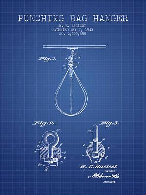 Striking Bag Digital Art - 1940 Punching Bag Hanger Patent Spbx13_bp by Aged Pixel